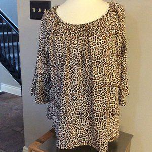 NEW Michael Kors Leopard Print Shirt Size 1X